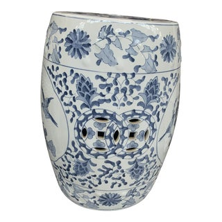 Chinese Blue and White Porcelain Garden Stool For Sale