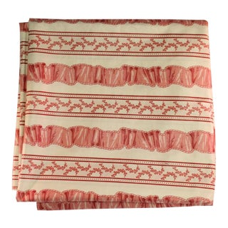 Pink Floral Patterned Fabric For Sale