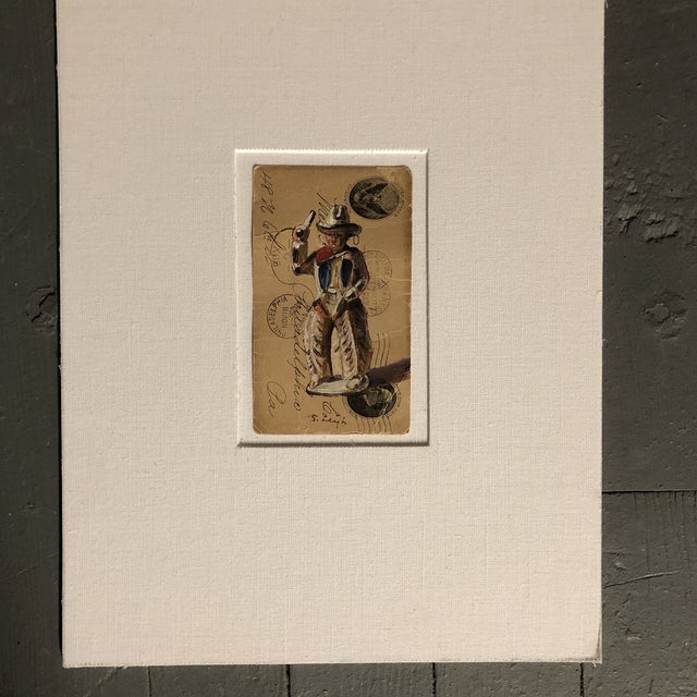 """Illustration Original Illustration """"Dimestore Cowboy Toy"""" Painting by Stephen Heigh For Sale - Image 3 of 5"""
