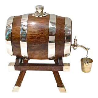 Vintage Whisky Barrel Dispenser