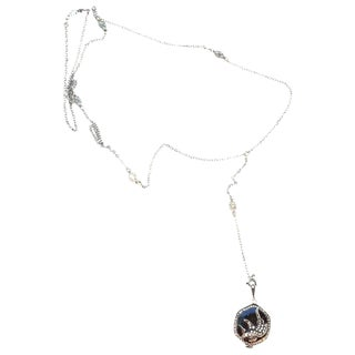 30s Solow Crane Paste Stone Watch Necklace For Sale
