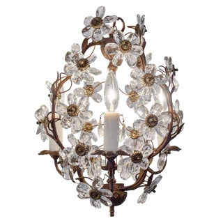 Vintage Baguès Crystal Chandelier For Sale