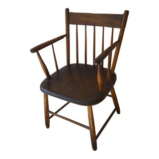 Antique Traditional Wood Armchair For Sale
