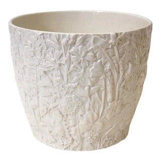Italian Porcelain Flower Pot For Sale