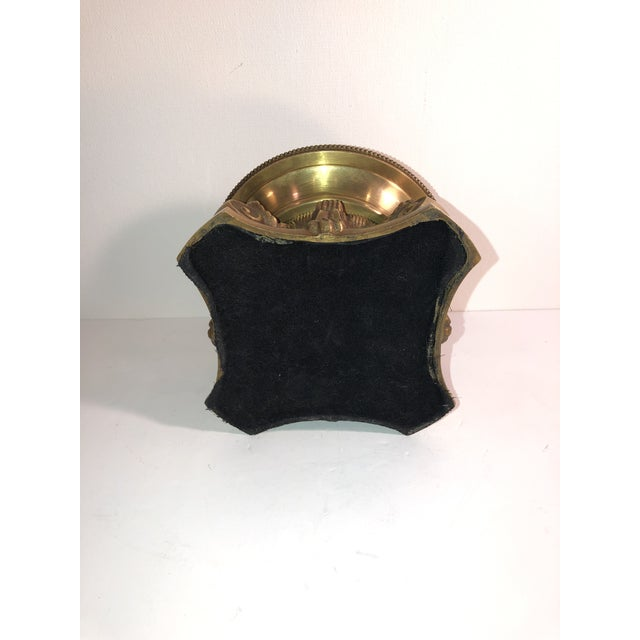 1950s Hollywood Regency Solid Brass Hurricane Candle Holder For Sale In Phoenix - Image 6 of 7