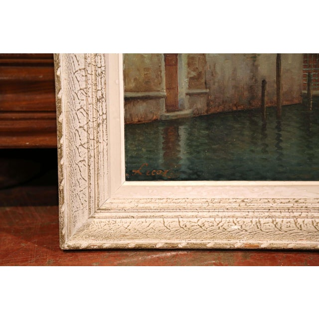 Early 20th Century French Venice Framed Oil Painting Signed Alphonse Lecoz For Sale In Dallas - Image 6 of 11