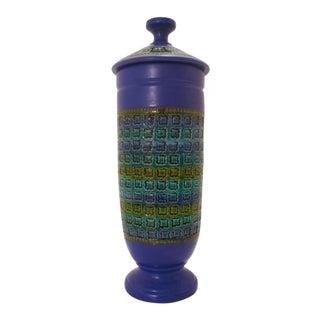 Bittosi for Rosenthal Netter Large Blue-Purple Lidded Jar Vase Urn For Sale
