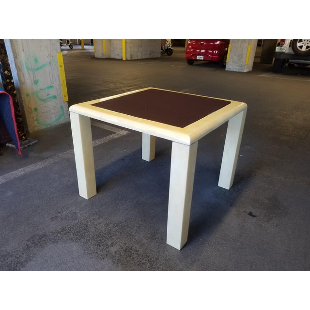 1970's Tessellated Bone Gaming Table For Sale - Image 11 of 12
