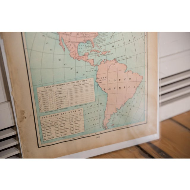Old New House Cram's 1907 Map of Americas For Sale - Image 4 of 8