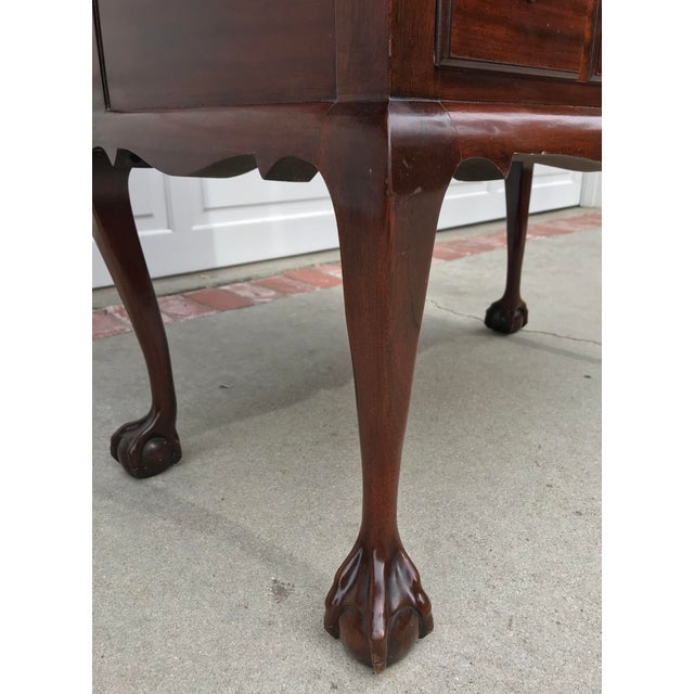 Mahogany Chippendale Style Ball & Claw Cabinet - Image 5 of 6