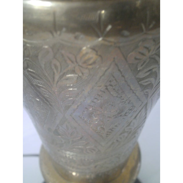 Vintage Brass Jardiniere Lamp For Sale - Image 4 of 8