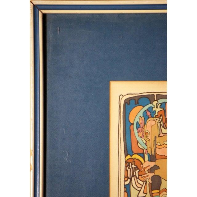 "E. Price Egan ""Brueger Vision"" Framed Pen and Ink Drawing For Sale - Image 9 of 13"