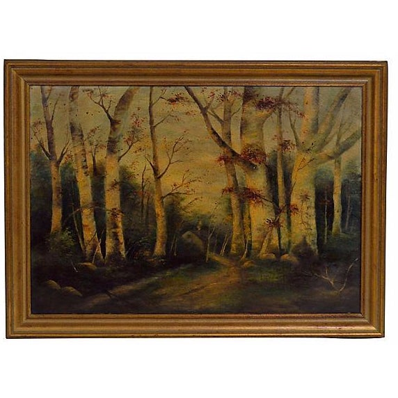 """The Woods in Fall"" Oil Painting - Image 1 of 2"