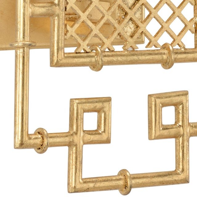 Contemporary Benton Sconce in Gold For Sale - Image 3 of 4