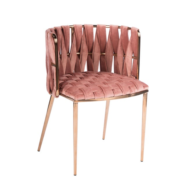 2010s Milano Dining Chair in Rose and Gold For Sale - Image 5 of 5