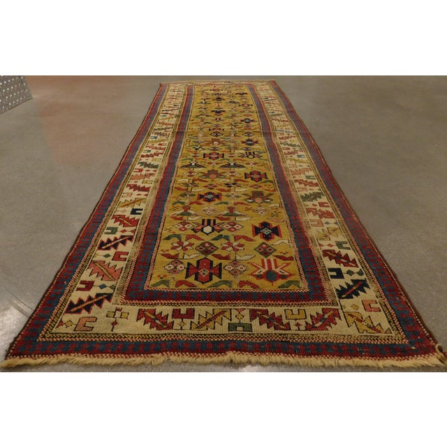 1900s Antique Caucasian Shirvan Runner For Sale - Image 9 of 13
