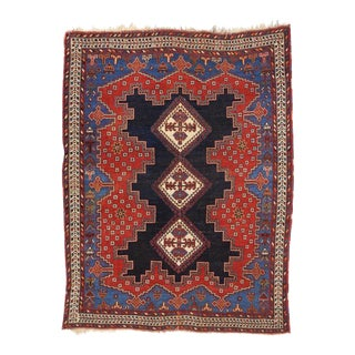 Antique Persian Shiraz With Modern Style With Traditional Colors - 4'4 X 5'7 For Sale
