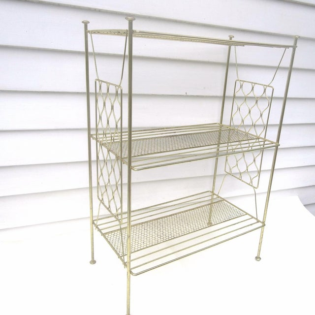Vintage Metallic Brass Display Shelf - Image 6 of 8
