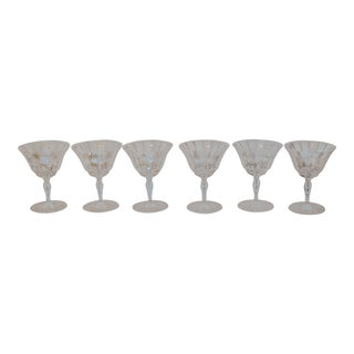 Vintage Crystal Wine Glasses - Set of 6 For Sale