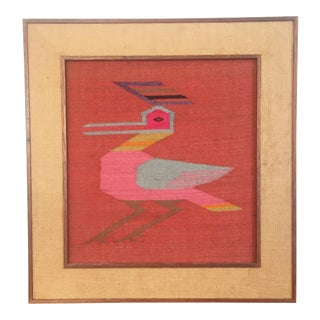 Vintage Southwestern Framed Woven Textile Art
