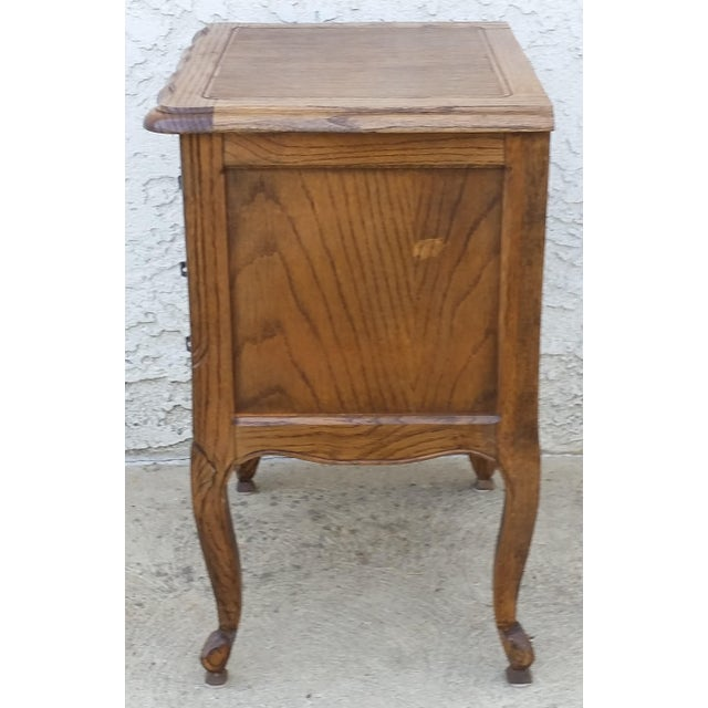 20th Century French Provincial Oak Nightstand For Sale In Los Angeles - Image 6 of 11