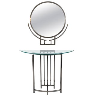 Design Institute of America (DIA) Mirror and Console For Sale