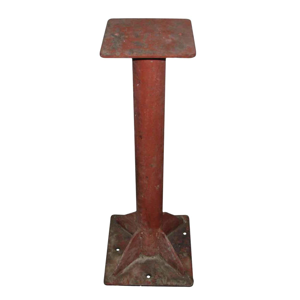 Industrial Red Metal Pedestal Base Chairish