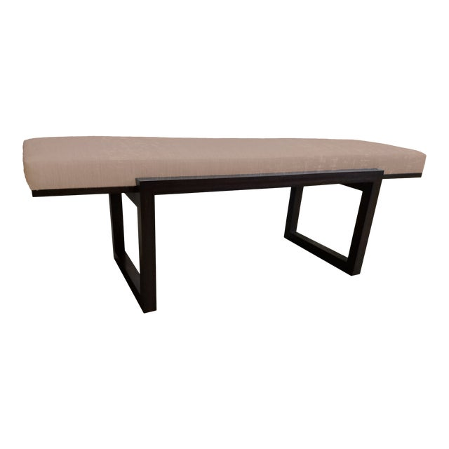 """The Hide's """"The Darby"""" Long Bench in Leather For Sale"""