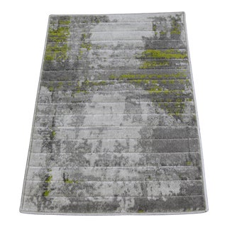 Abstract Art Green Doormat - 1'8'' x 2'8''