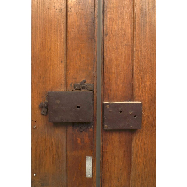 18th Century Pair of 18th Century French Provincial Walnut Doors For Sale - Image 5 of 6