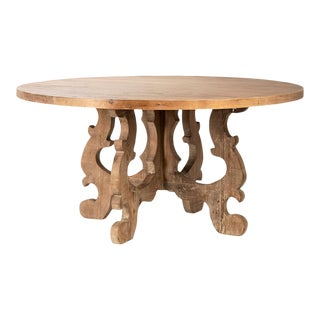 "Round Salvaged Rotham Table 60"" For Sale"