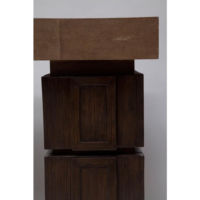 Shagreen and Wenge Desk by R & Y Augousti For Sale In Miami - Image 6 of 11