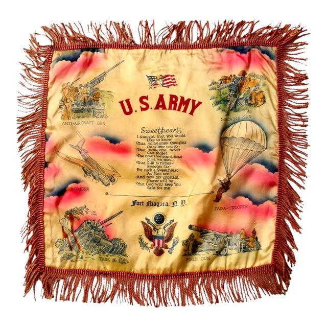 1940s US Army Souvenir Pillowcase - Image 1 of 7