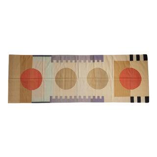 "Vintage Contemporary Kilim Rug Runner - 4'1"" X 11'9"" For Sale"