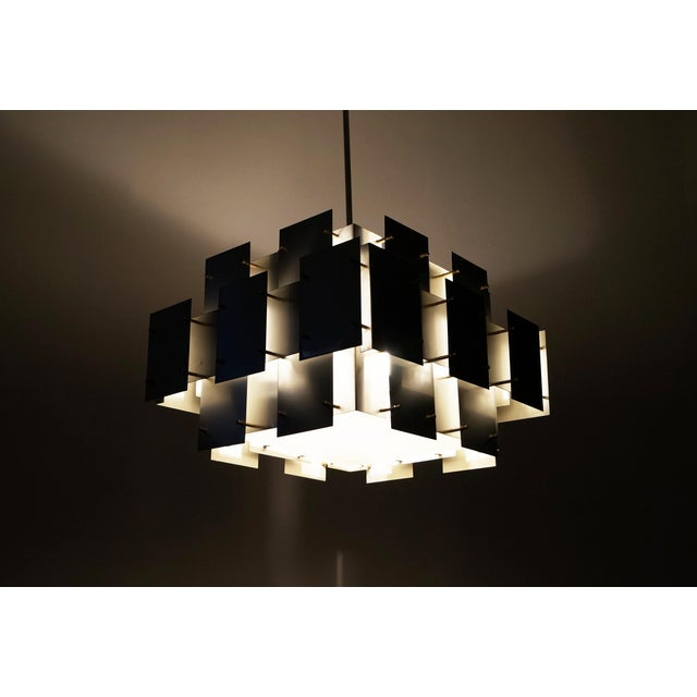 "Vintage ""Cityscape"" Chandelier by Robert Sonneman - Image 5 of 7"