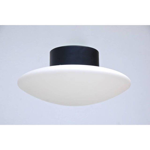 1950s Large Arteluce Attributed Flush Mount For Sale - Image 5 of 10