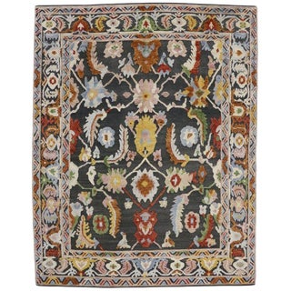 Geometric Modern and Contemporary High-Low Area Rug - 10′9″ × 13′8″ For Sale