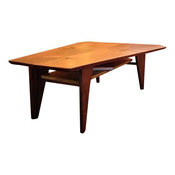 Mid Century Modern Walnut Slab Coffee Table - Image 1 of 7