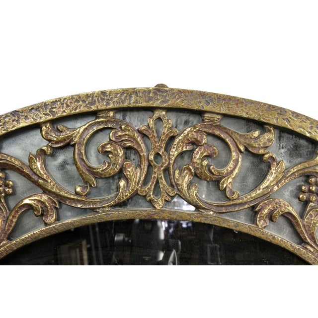 Art Deco Oscar Bach Bronze Wall Mirror For Sale - Image 3 of 8