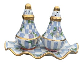 Image of Blue Salt and Pepper Shakers