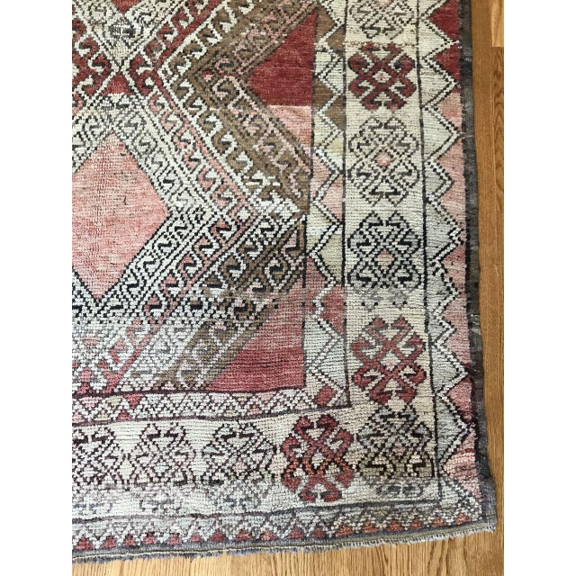 Bellwether Rugs Oushak Red & Earth Tone Patina Rug - 4′1″ × 7′5″ For Sale - Image 4 of 7
