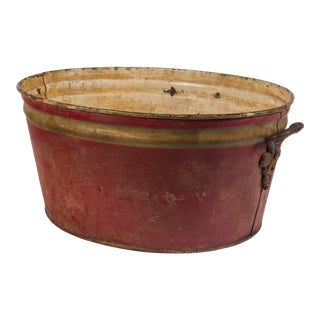 20th Century French Enamelware Basin For Sale
