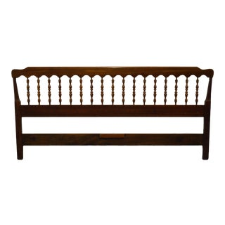 Vintage Ethan Allen Georgian Court Solid Cherry King Headboard For Sale