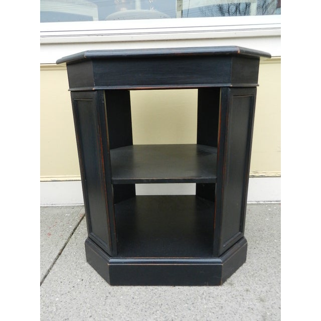 Leather Top End Table Bookcase - Image 2 of 5