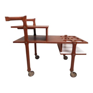 Modern Three-Tiered Bar Cart For Sale
