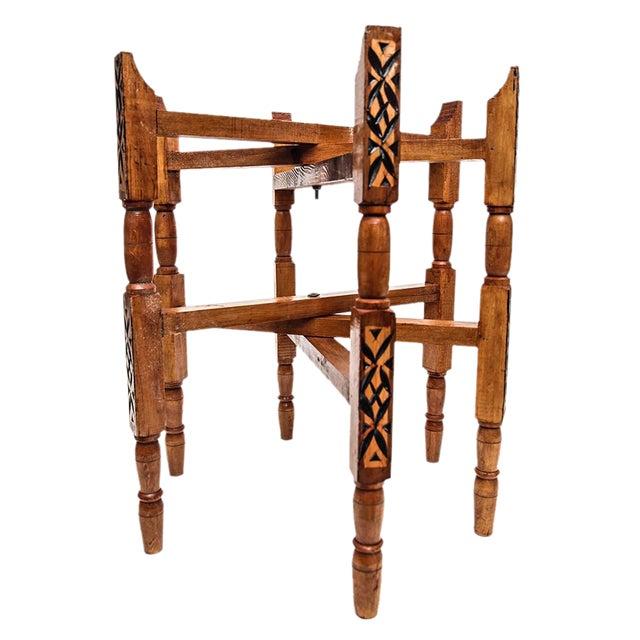 Handcrafted Moroccan Atlas Cedar Wood Tray Legs For Sale