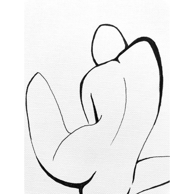 "Contemporary ""The Pose I I I"" Original Pen & Ink Drawing For Sale - Image 3 of 6"
