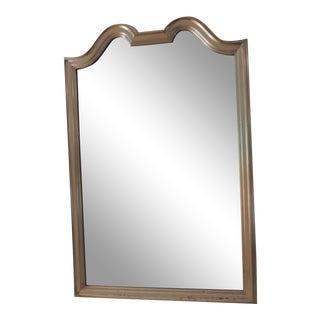 Vintage Large Silver Leaf Wood Deco Mirror