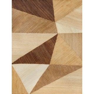 Schumacher Patterson Flynn Martin Cubist Hand-Woven Abaca Geometric Rug - 9' X 12' For Sale