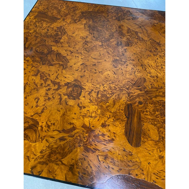 1970s 1970s Stunning Oyster Olivewood Burl Table, Made in Italy For Sale - Image 5 of 13